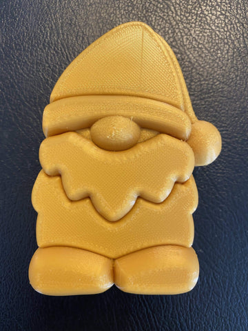 Gnome with Santa Hat Plastic Hand Mold