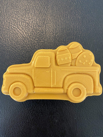 Pick-up Truck with Easter Eggs Plastic Hand Mold