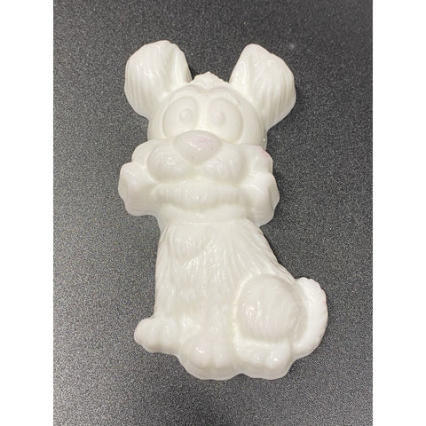 Puppy with Bone Plastic Hand Mold