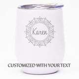 Fancy Border *CUSTOMIZED* - Wine Tumbler