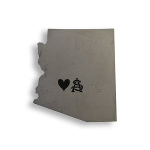 Love ASU Concrete Coasters