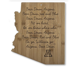 Arizona Fight Song Cutting Board
