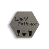 Liquid Patience Concrete Coaster