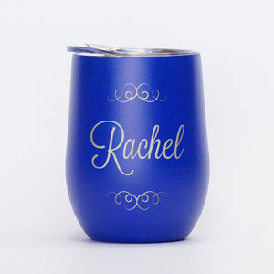 Ornamental Personalized - 12oz Wine Tumbler