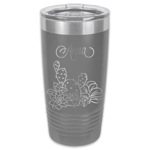 Succulents Tumbler - 20 oz Customized
