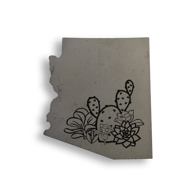 AZ Succulents Concrete Coaster