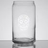 Sugar Skull Glass Can