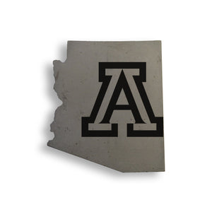 U of A State Concrete Coasters