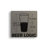 Beer Logic Concrete Coasters