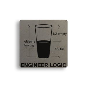 Engineer Logic Concrete Coaster
