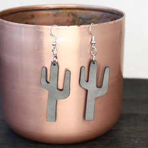 Saguaro Leather Earrings
