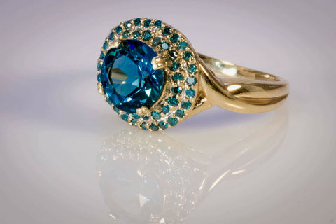 London blue topaz ring. LWR02