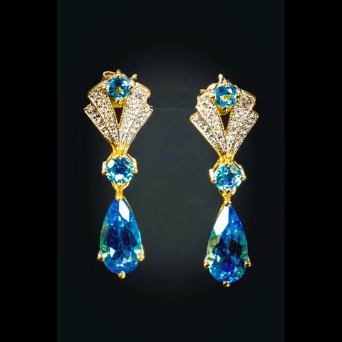 Blue topaz earrings. LWE 01