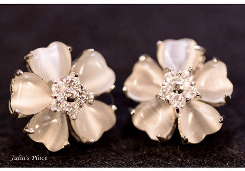 Flower earrings. STE01