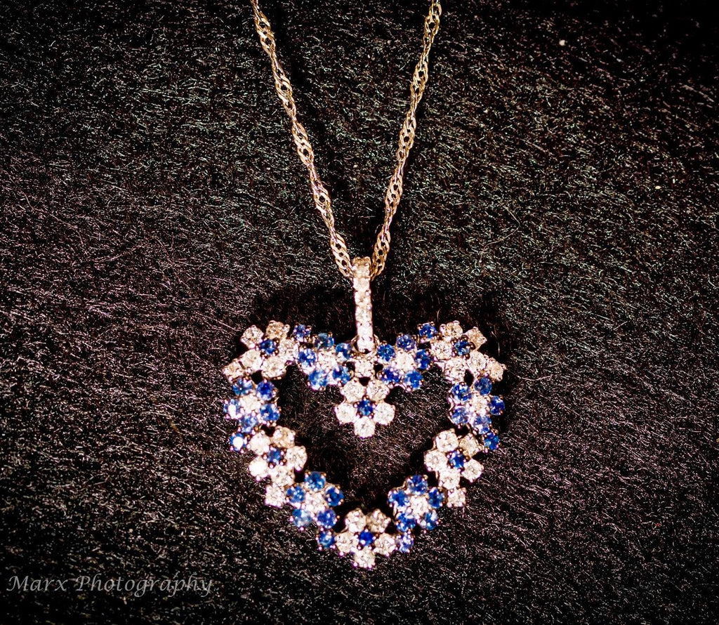 Sapphires heart necklace.JPP01