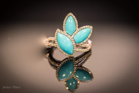 Turquoise ring. LWR06