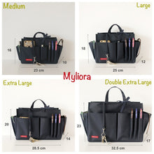 Myliora Original | Handbag Organiser Liner Bag Protector, Navy Blue, M L XL XXL Sizes
