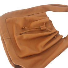 Myliora Hobo Leather Large Handbag, Caramel