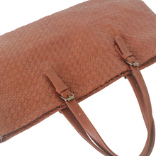 Brown Woven Leather Large Bag - myliora.com