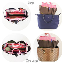Myliora Original | Handbag Organiser Liner Bag Protector, Brown Pink, S M L XL Sizes