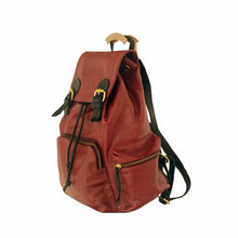 Large Rucksack Leather in Maroon | MYLIORA.COM