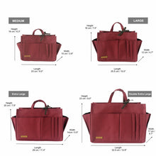 Myliora Original | Handbag Organiser Liner Bag Protector, Burgundy, M L XL XXL Sizes