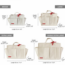 Myliora Original | Handbag Organiser Liner Bag Protector, Off-White, M L XL XXL Sizes