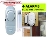 "ALARM, 4-Pack SALE - Loud ""no contract"" basic Security"