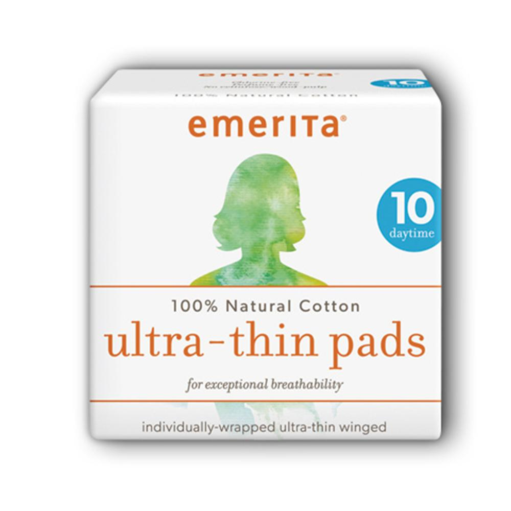Emerita Ultra-Thin Day Time Pads With Wings, Regular