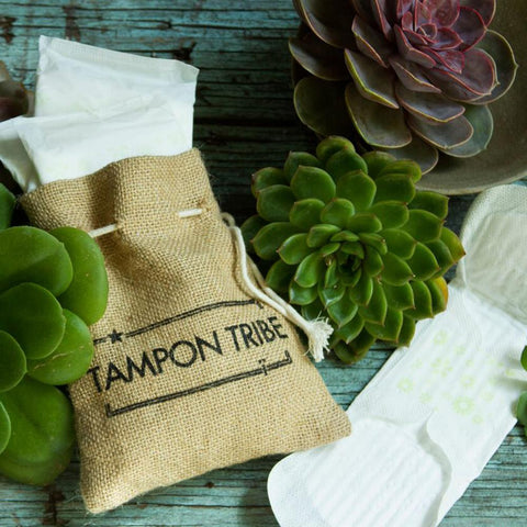 Tampon Tribe Organic Cotton Pads With Wings, Regular