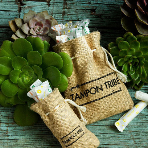 Tampon Tribe Organic Cotton Tampons With Biodegradable Applicator, Regular