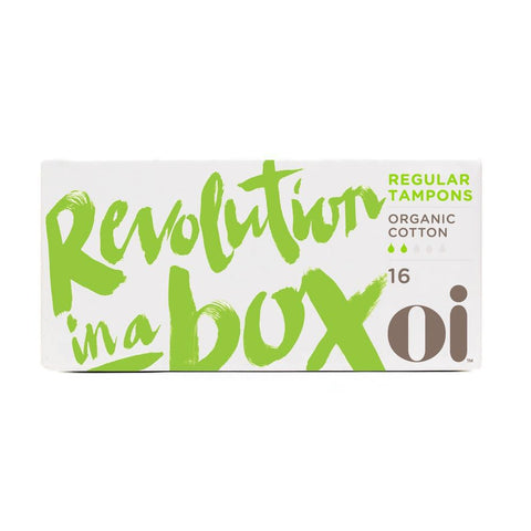 OI Organic Cotton Tampons Without Applicator, Regular