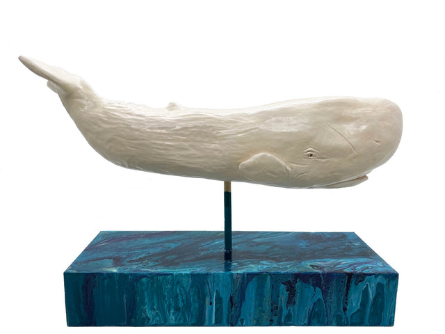 White Whale Ceramic Sculpture