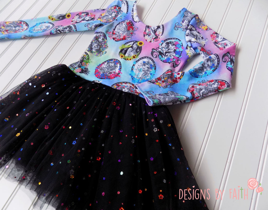 Multi-Color Flower Sequin Mesh