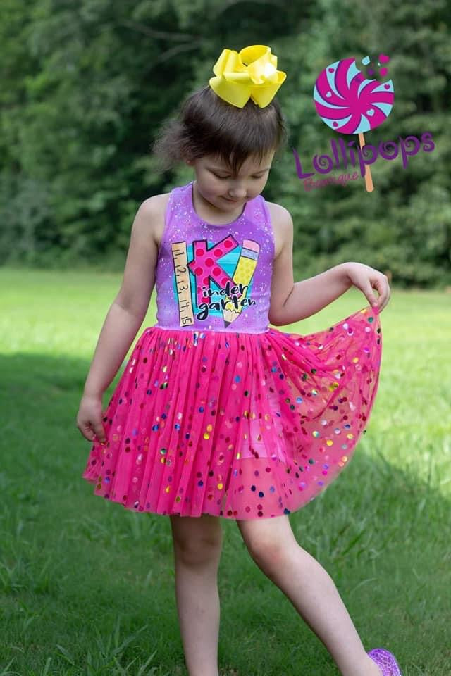 Berry Bright Rainbow Confetti Dot Mesh