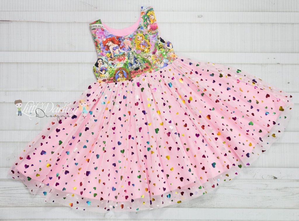 Pink Confetti Heart - Fancy Pants Fabrics