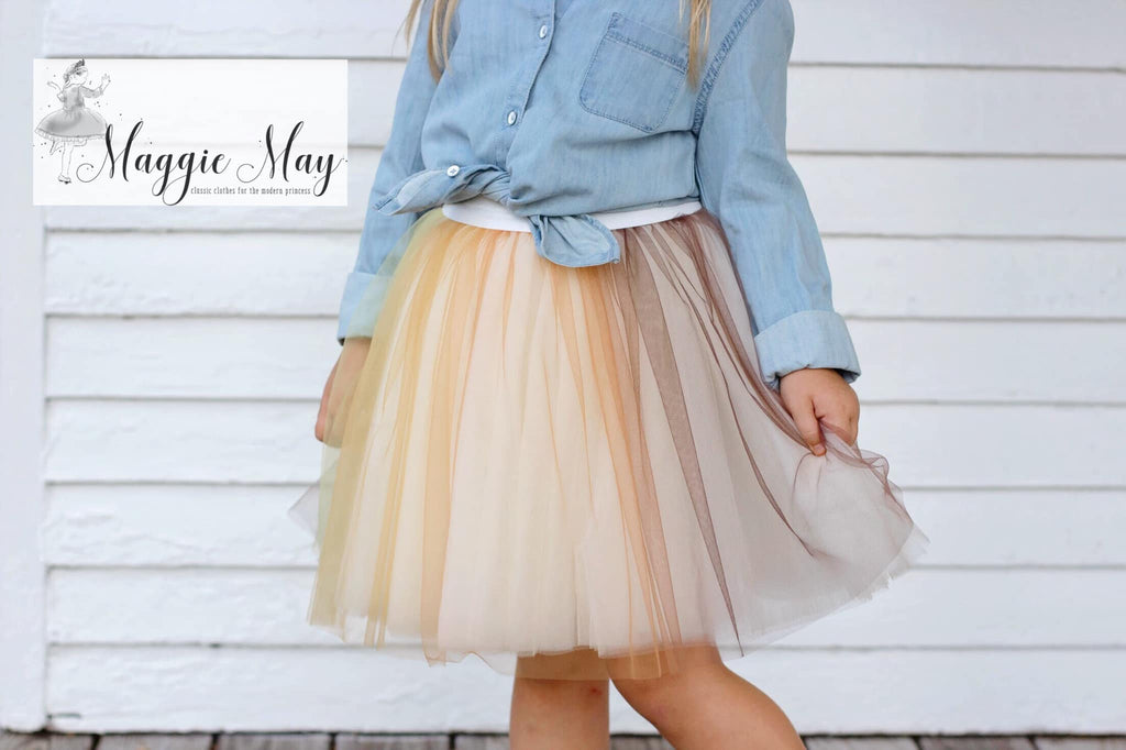 Fall Harvest Ombré Tulle - Fancy Pants Fabrics