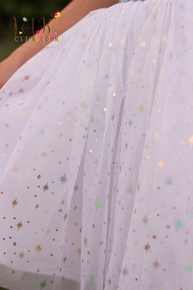 Iridescent  Snow Sequin ************PRE-ORDER****** - Fancy Pants Fabrics