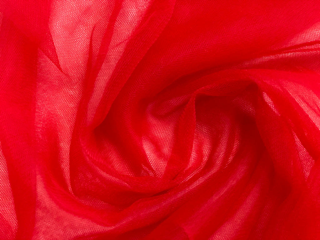 Red Solid Tulle