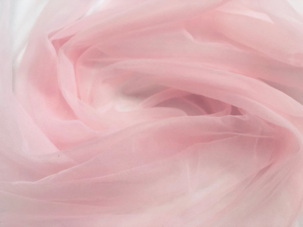 Pink Solid Tulle
