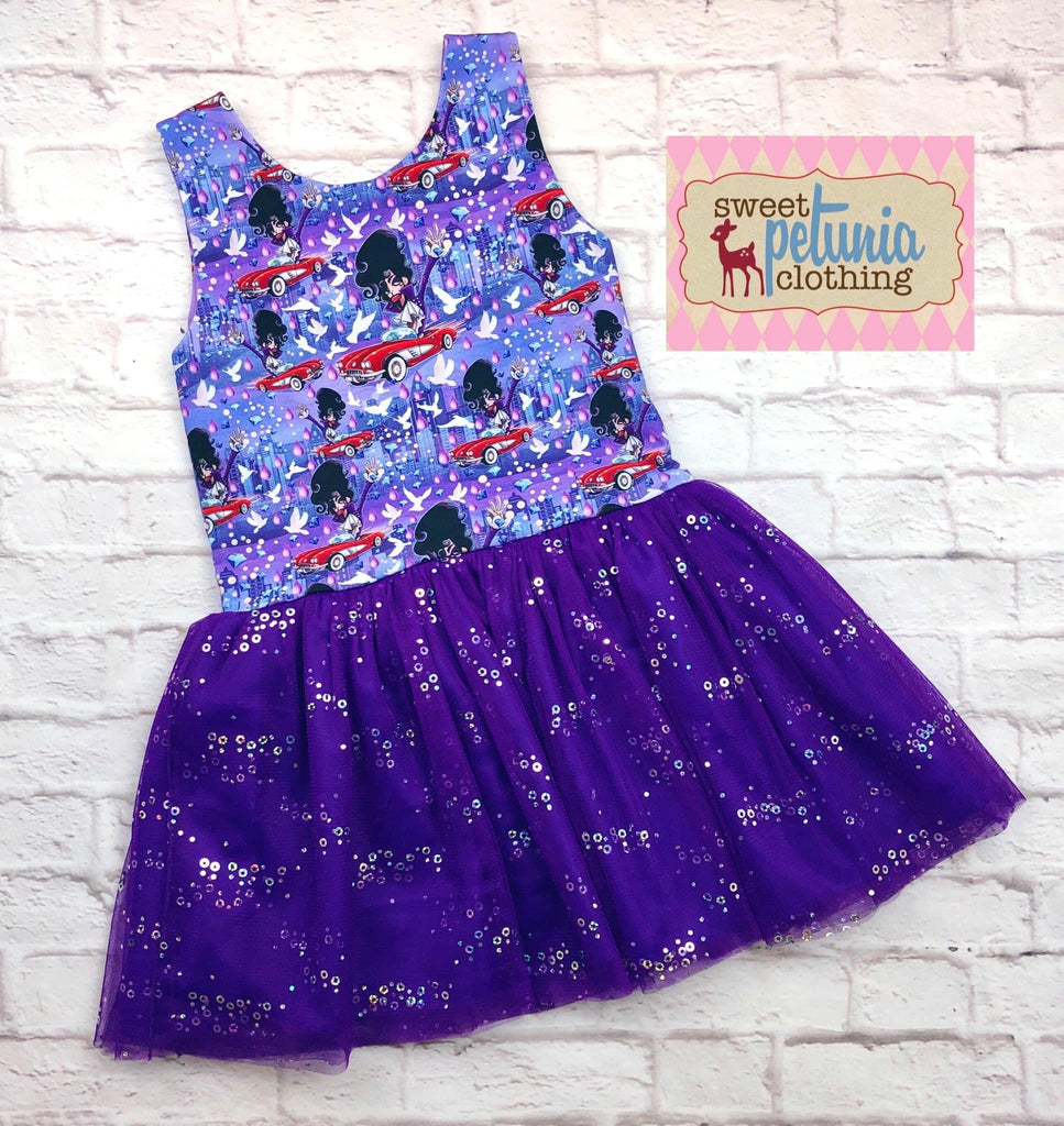 Grape Iridescent Sequin Mesh - PRE-SAlE