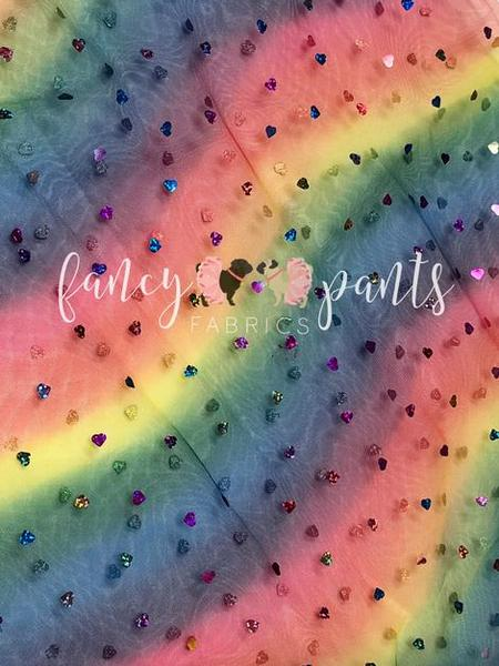 Wavy Rainbow Sequin - Fancy Pants Fabrics