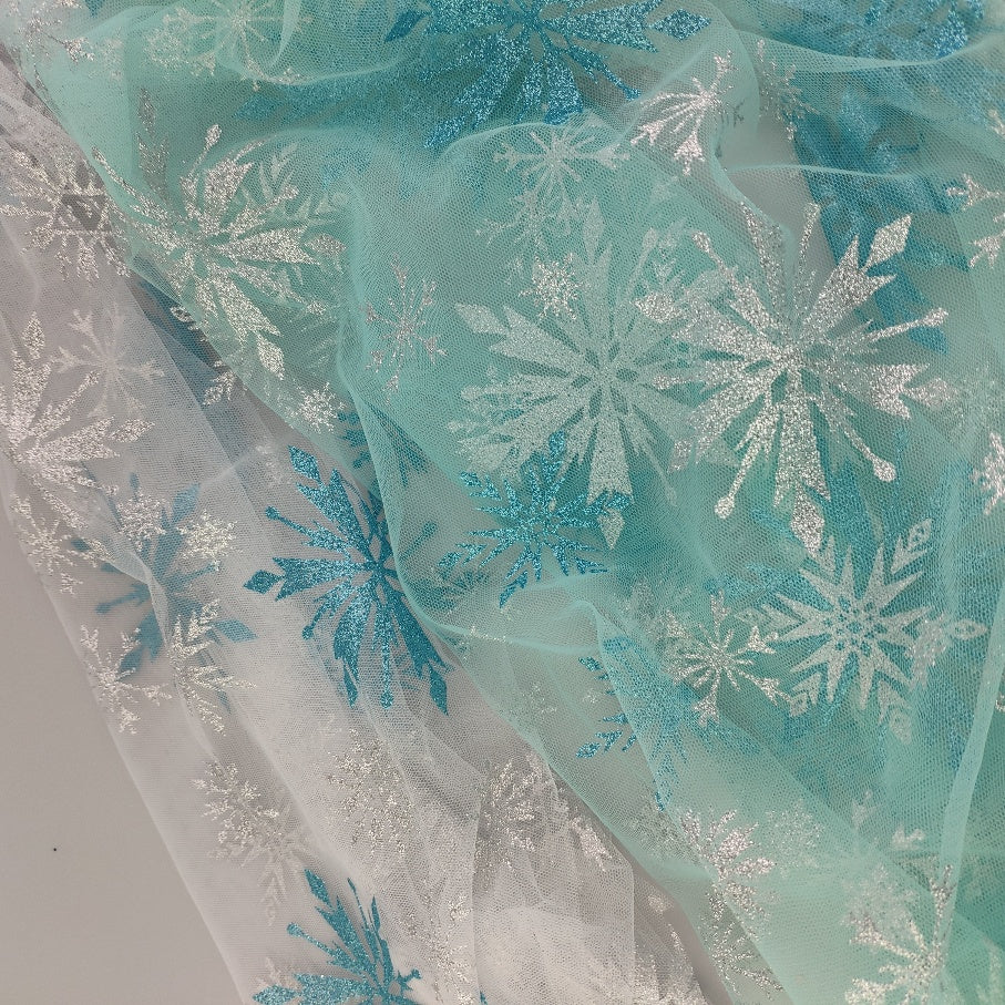 Teal and Silver Glitter Snowflake (multiple colors available)