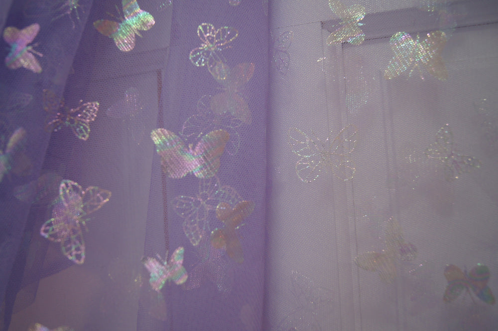 Lavender iridescent Butterfly Mesh