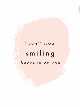 Postcard - Cant Stop Smiling