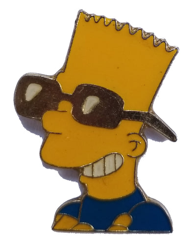 Bart Simpson Vintage Pin Blue