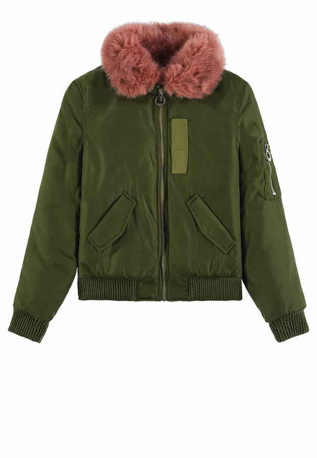 BomberJacket with Pink Fur