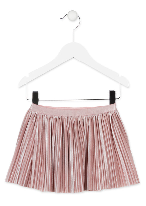 Losan Velvet Pleated Skirt