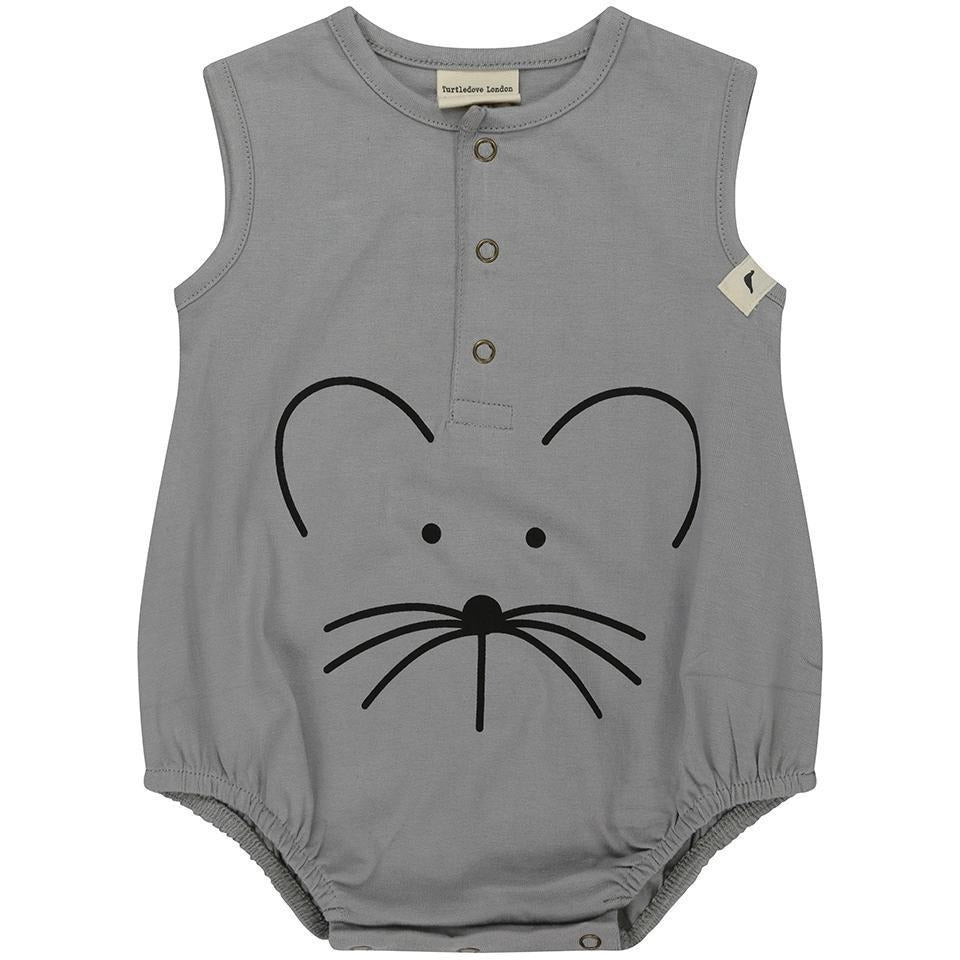Bubble Romper Mouse Face - Petit Atelier Enfant
