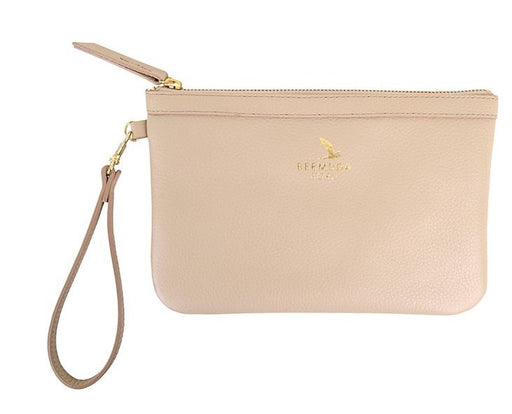 Beige Tobacco Bay Clutch Bag